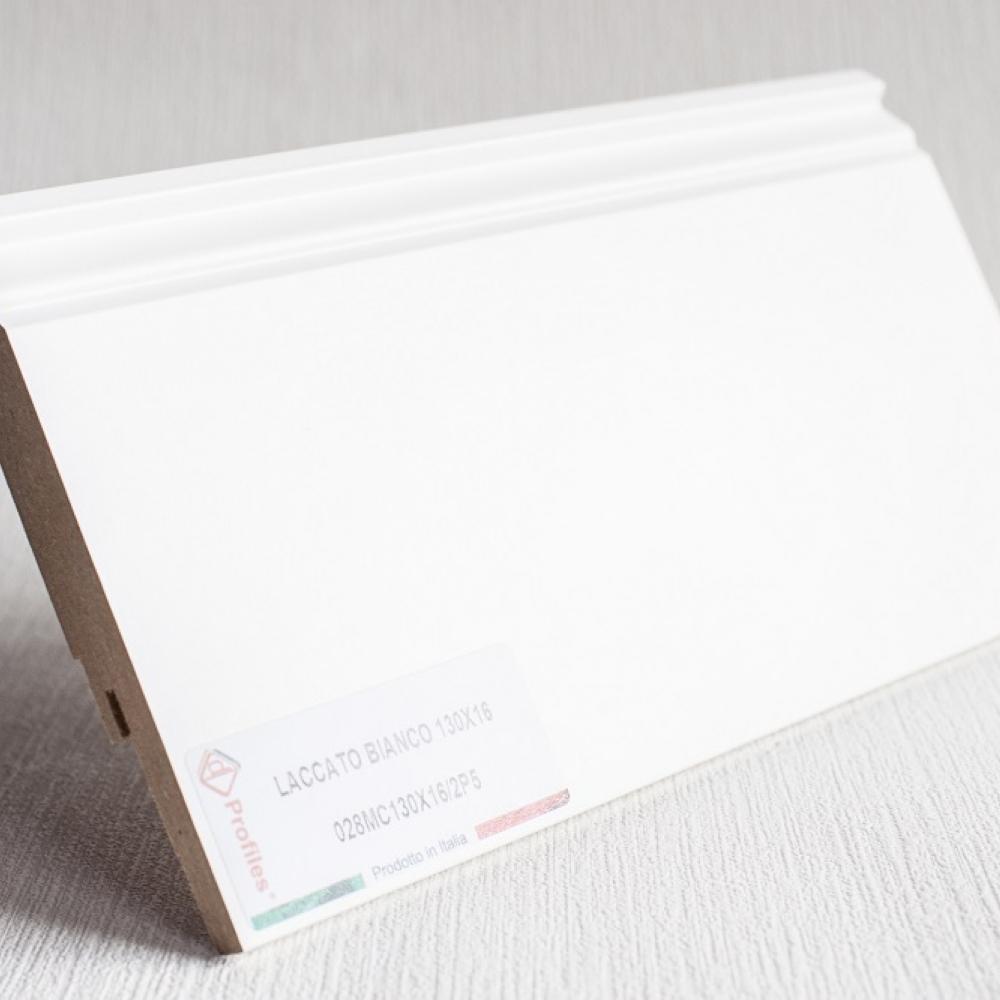 фото плінтуса лучіано білий Р5 130