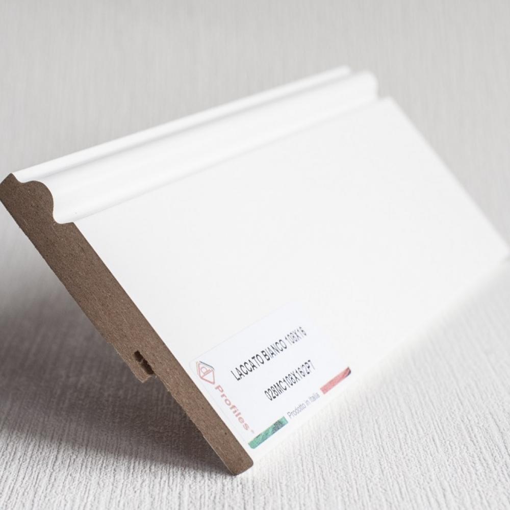 фото плінтуса лучіано білий Р7 108