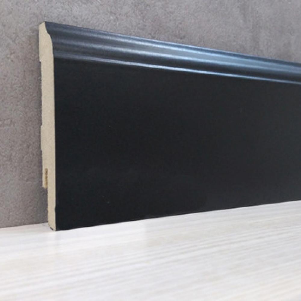 фото плінтуса лучіано 82 - чорний