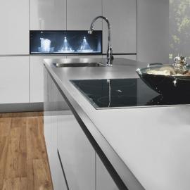 Фото в інтер'єрі на кухні - Хікорі Челсі 34073
