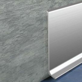 фото плінтуса лучіано алюміній срібло
