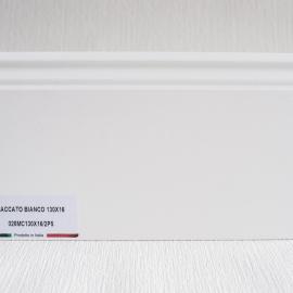 фото плінтуса лучіано білий Р5 130-1
