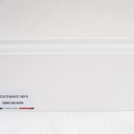 фото плінтуса лучіано білий Р6 108-1