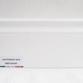 фото плінтуса лучіано білий Р8 130-1